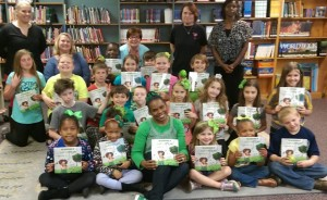 40 books personally delivered to 40 chiildren in Lockhart, Sc- population...617!