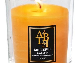 Candle- Zuleana Favorite! Beeswax and Lavender Essential Oil – 4 oz.- No SOY!